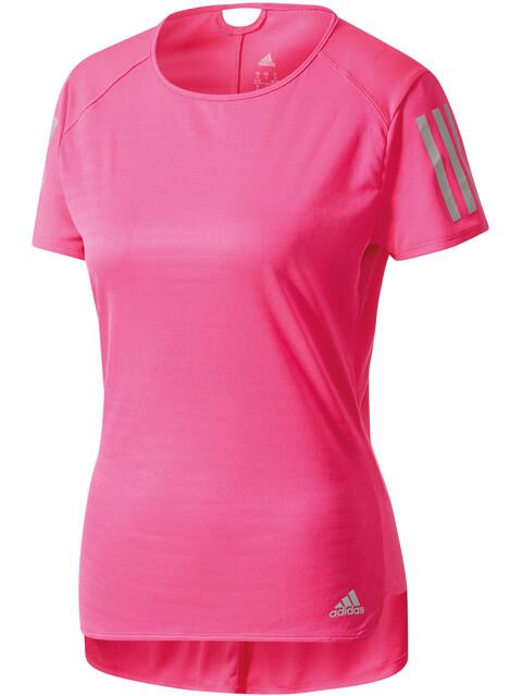 adidas Response Hardloopshirt korte mouwen Dames roze